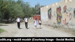 Uzbekistan - Alisher Navoiy street of Romitan district center, Bukhara region
