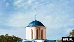 Макет Кирилівської церкви - вигляд храму у ХІІ ст.