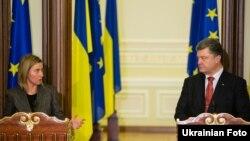 Президент України Петро Порошенко та верховний представник ЄС із закордонних справ і політики безпеки Федеріка Моґеріні