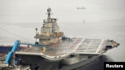 China's first aircraft carrier in 2012.