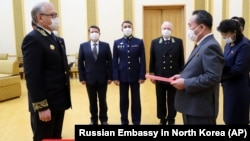 Հյուսիսային Կորեա - Հանդիսավոր արարողությունը Փհենյանում ՌԴ դեսպանատանը, 5-ը մայիսի, 2020թ.