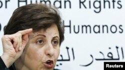 شیرین عبادی، حقوقدان و برنده جایزه صلح نوبل