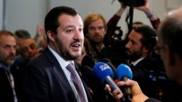 """Matteo Salvini, liderul partidului """"Lega"""" și gazda reuniunii"""