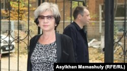 Журналист Гульжан Ергалиева. Алматы, 7 октября 2015 года.