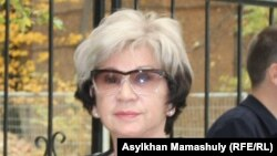 Журналист Гүлжан Ерғалиева. Алматы, 7 қазан 2015 жыл.