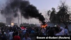 د عراق په بصره ښار کې مظاهره.