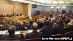 Pamje nga një seancë e Parlamentit të Malit të Zi