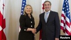 Хиллари Клинтон и Михаил Саакашвили, Батуми, 5 июня 2012