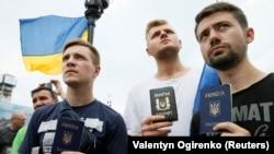 Мітинг прихильників Міхеїла Саакашвілі в Києві, 27 липня 2017 року
