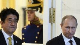 Прем'єр-міністр Японії Сіндзо Абе та президент Росії Володимир Путін