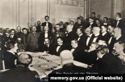 La semnarea tratatului de pace la Brest-Litovsk. 9-10 februarie 1918