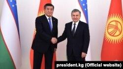 Сооронбай Жээнбеков и Шавкат Мирзиеев. 13 декабря 2017 года. Ташкент.