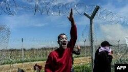 Izbjeglica izmedju Makedonije i Grčke