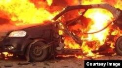 Взрыв заминированного автомобиля в Багдаде (архивное фото)
