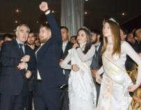 Ramzan Kadyrov, with his arm raised, celebrates his 30th birthday (ITAR-TASS)