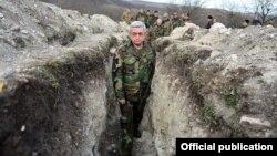 Ermənistan prezidenti Serzh Sarkisian Qarabağda cəbhə xəttində, 10Dek2016
