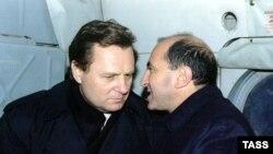 Иван Рыбкин и Борис Березовский в Чечне, ноябрь 1996 года