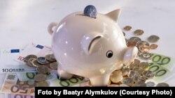 Германияда дээрлик ар бир үй-бүлөдө балдардын ар биринде майда тыйын чогултчу кутуча же money box бар.