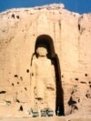 The statue, known as Solsol or the Western Buddha, stood more than 50 meters tall. This photo was taken on November 28, 1997.