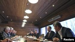 Встреча Дмитрия Медведева с лидерами незарегистрированных партий, 20 февраля 2012