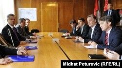 Sastanak predstavnika SDP BiH i SBB-a, Sarajevo, 1. jun 2012.