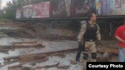 Падчас паводкі ў Грузіі