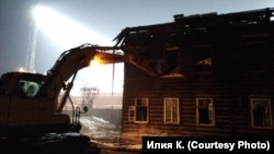 Снос исторических зданий в Красноярске, февраль 2017 года