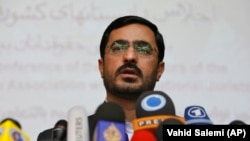 IRAN -- Tehran former prosecutor Saeed Mortazavi speaks to the media at a news conference in Tehran, April 19, 2009