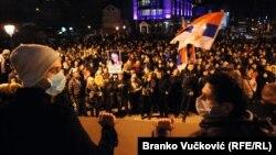 Protest 'Jedan od pet miliona' u Kragujevcu 23. februara 2019.