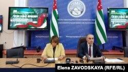 Абхазия республикасы орталық сайлау комиссиясының баспасөз орталығы. Сухуми, 8 қыркүйек 2019 жыл.