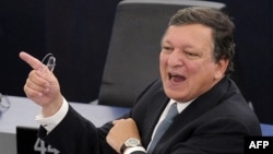 European Commission President Jose Manuel Barroso decried a breach of basic values at a State of the Union speech in Strasbourg.