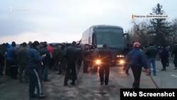 Архівні кадри реальних подій під Корсунем-Шевченківським, лютий 2014 року