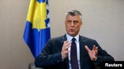 Kryeministri në largim i Kosovës, Hashim Thaçi.