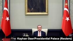 Թուրքիայի նախագահ Ռեջեփ Էրդողանը նախագահում է Ազգային անվտանգության խորհրդի նիստը, արխիվ
