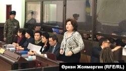 Слушания в суде по делу бывшего министра экономики Казахстана Куандыка Бишимбаева.