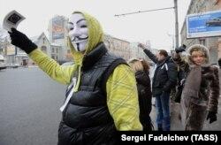 """Акция оппозиции """"Большой белый круг"""" на Садовом кольце, 2012 год"""