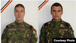 Sublocotenent (pm) Adrian Postelnicu şi aspirant (pm) Vasile Claudiu Popa, uciși duminică 22 septembrie în Afganistan.