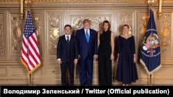 Президент Украины Владимир Зеленский вместе с женой Еленой встретился с американским президентом Дональдом Трампом и его женой Меланией, Нью-Йорк, 24 сентября 2019 год