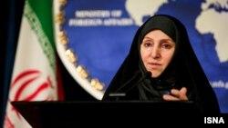 Zëdhënësja e Ministrisë së Jashtme të Iranit, Marzieh Afkham.