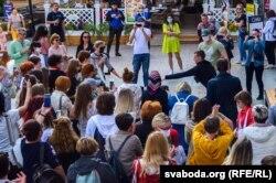 Жаночая акцыя салідарнасьці ў Горадні, 12 верасьня