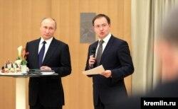 Владимир Путин и Владимир Мединский, декабрь 2016 года