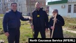 Жители Каспийска провели выходной с пользой