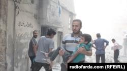 د سوریې په حلب ښار کې د روسي جنګي الوتکو بمبار