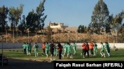 معسكر تدريبي لـلمنتخب العراقي لـكرة القدم في عمان(من الارشيف)