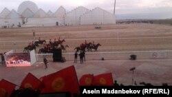 Кыргызстандын көкбөрү боюнча улуттук курама командасы жарым финалдык оюндан кийин. 6-сентябрь, 2018-ж.