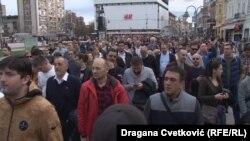 Учесници на протестите во Ниш