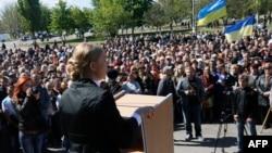 Юлия Тимошенко на предвыборном митинге