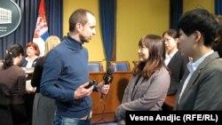 Učitelji kineskog u razgovoru sa Zoranom Glavonjićem, Beograd, 15. mart 2012.
