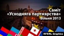 Баннер вильнюсского саммита на белорусском языке