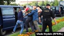Минскида протест вакытында тоткарлау, 14 июль